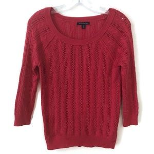 3/$15 AE pink Cable Knit Sweater